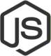Node.js black and white logo